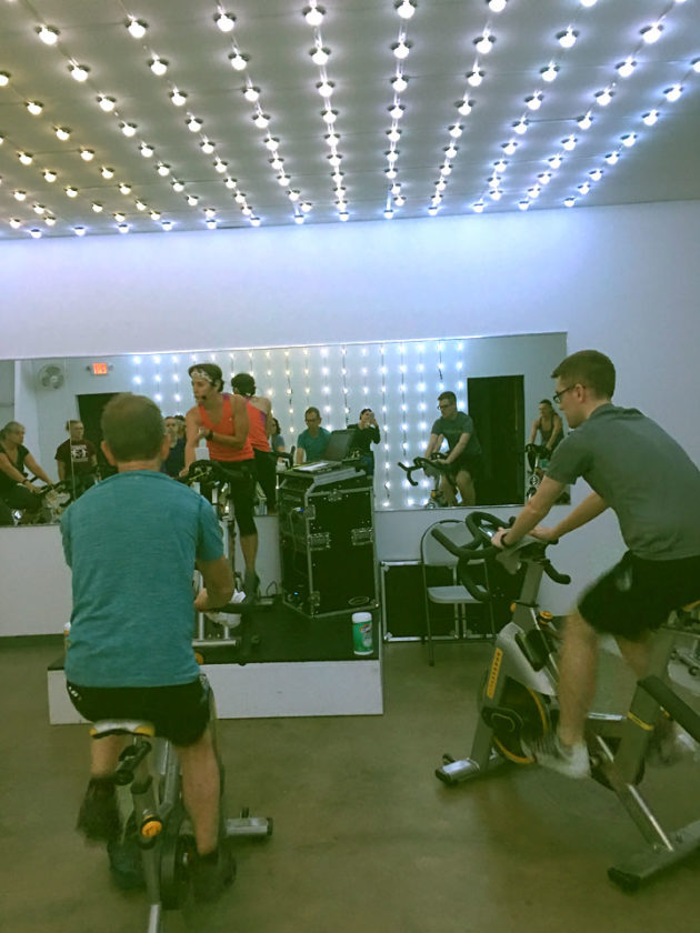 Urban Spin is open on Mall Boulevard in Lakewood. The indoor cycling facility offers 15 stationary bikes and a club-like atmosphere with LED lights in sync to the music.  Submitted photo