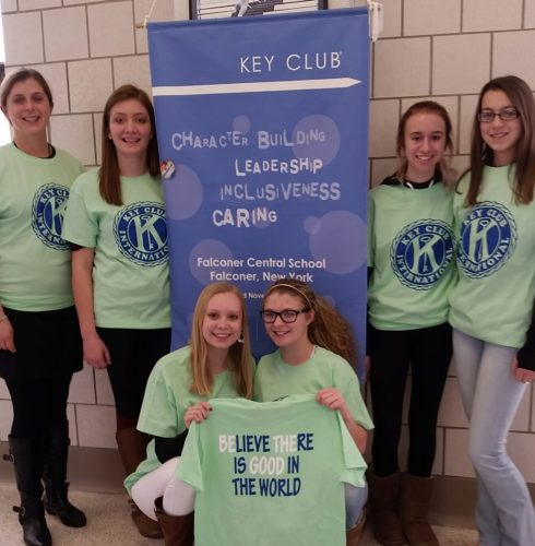 Falconer Key Club members are pictured. The club is raising money for a service trip to the Dominican Republic later this year.