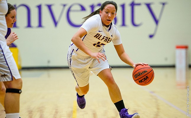 Alfred University's Jamie Wilcox was named the Empire 8 Conference's Rookie of the Week for the second time. Photo courtesy of Alfred University