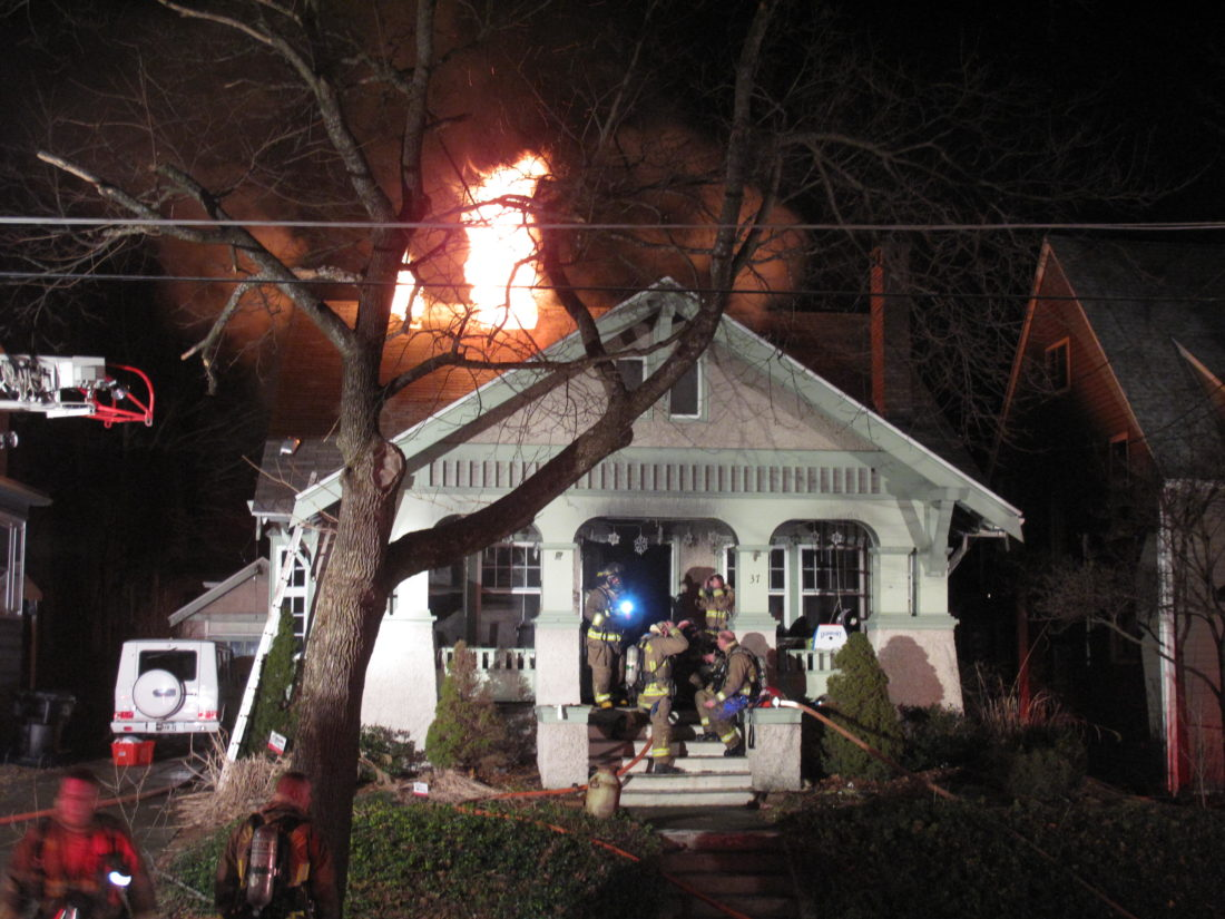 A Chestnut Street residence sustained significant smoke and heat damage in a structure fire Tuesday night in the city. Fire officials could not determine a cause of fire, which was reported shortly before 9 p.m. No one was home when the blaze began, and no injuries were reported.  P-J photo by A.J. Rao