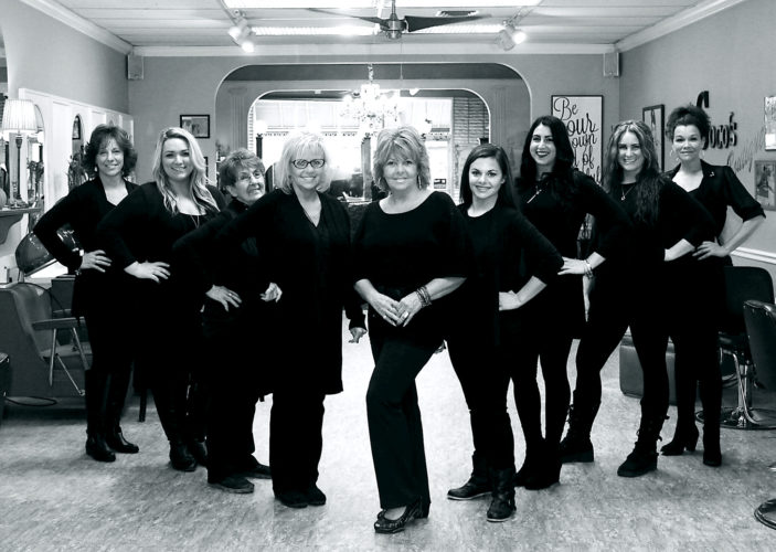 Dorian's Salon in Jamestown is celebrating 70 years. Pictured are the stylists and employees who work at the salon, located at 308 Main St. in the city.  Submitted photo