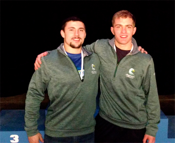 Nate Skonieczny, right, is pictured with assistant coach Kevin Strong. Submitted photo