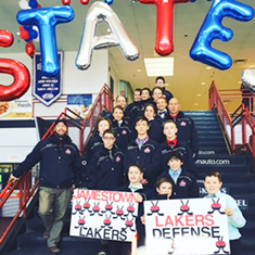 The Jamestown Pee Wee A hockey team posted a 1-1 record Friday on the first day of the state tournament. Submitted photo