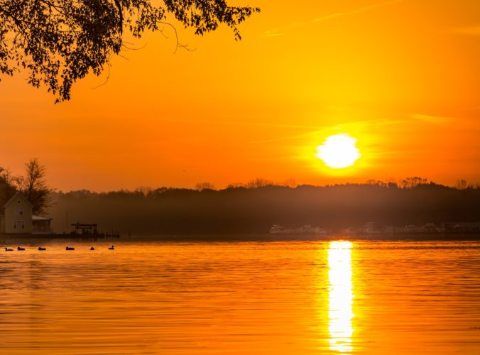 Sunrises on Chautauqua Lake are breathtaking.  Photo by D. Arlene Bonnett