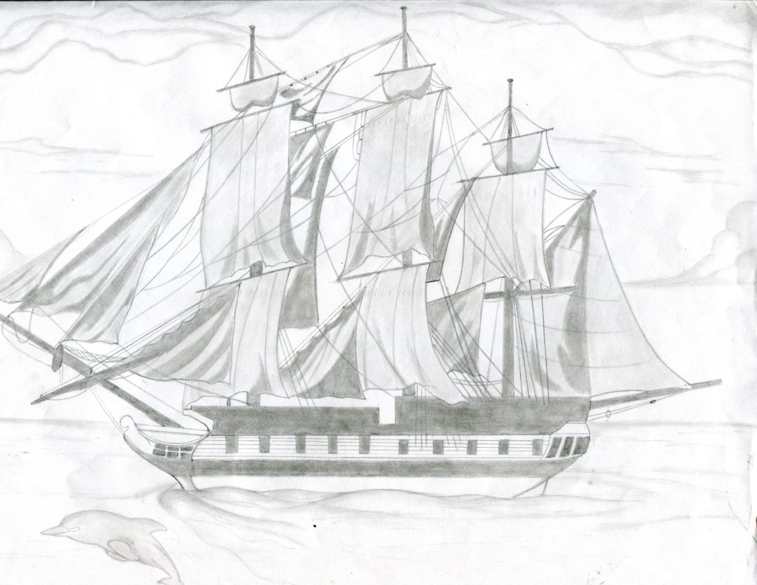 One of Quinones' drawings.