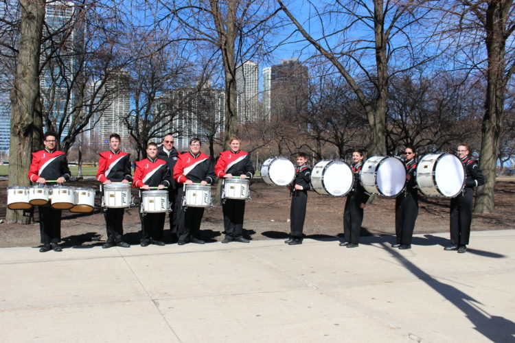 The Jamestown High School Marching Band recently visited Chicago to perform in the annual St. Patrick's Day parade.