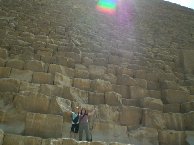 My friend, Katie Childress, and I on The Great Pyramid.