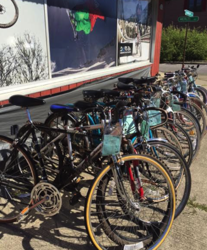 Pictured are used bicycles at Hollyloft Ski and Bike, located at 600 Fairmount Ave. in Jamestown. Submitted photo