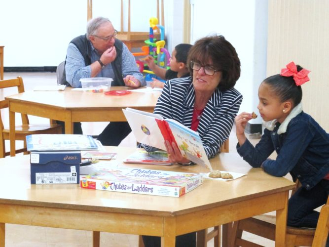 """First Presbyterian Church recently began a new tutoring program called """"TON"""" which stands for Tutoring Our Neighbors. Pictured are students with their tutors during the TON program.  P-J photo by Katrina Fuller"""