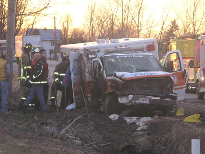 The family of a man killed in an ambulance crash earlier this year has filed a lawsuit against the driver and company, court records show.  P-J file photo