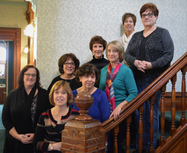 Front row, from left, are Cathy Moots, Sharon Matson, Elva Duckworth and Sandy Bogey. Back row, from left, are Julie Franco, Deb Kathman, Anne Hedin and Carol Dixon. Not pictured are Joyce Golden and Gail Davis.