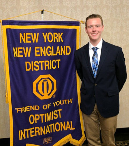 Jamestown High School senior Matt Leon won the New York Optimist Oratorical Contest in Utica on April 8.