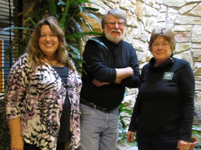 From left, Master Gardeners Cynthia Carlson, Steve Rees and Patricia Martonis will discuss different spring gardening topics at the Best of Times seminar at the Lutheran campus Wednesday.