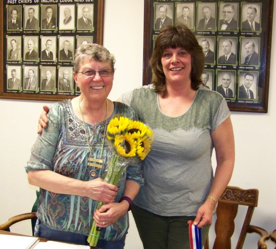"Elizabeth ""Betsy"" Lynch, left, was recently awarded the Viking of the Year award by Mindy Worden, I.O.V. Grand Council member."