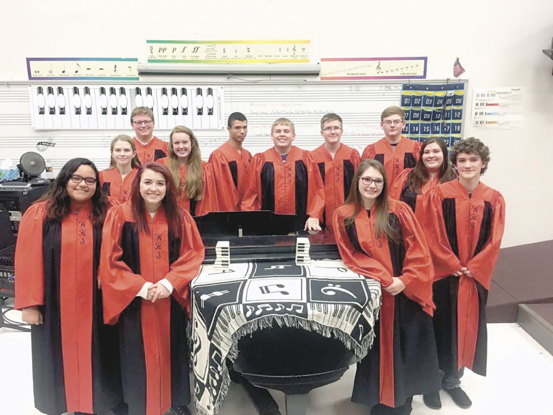 Pictured is the Wellsville High School Ebony and Ivory Show Choir. (Submitted photo)