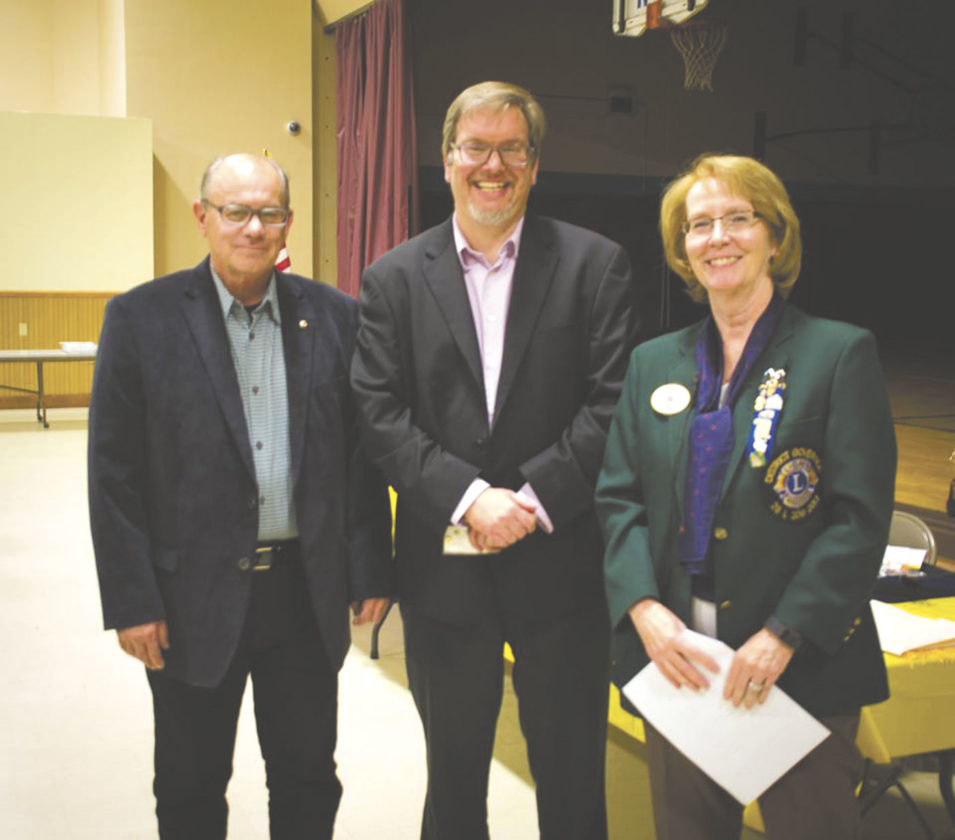 Pictured are: WV 29L District Governor Linda Leasure (right) with new member Andrew Kefer (center) and his sponsor Joe Ghenne (left) (Submitted photo)