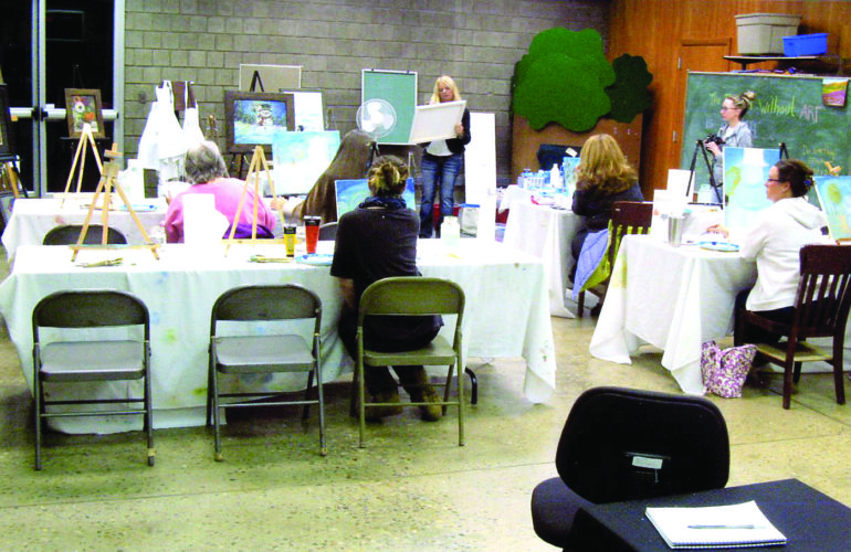 One of the more unique activities offered at the Center are the art classes.