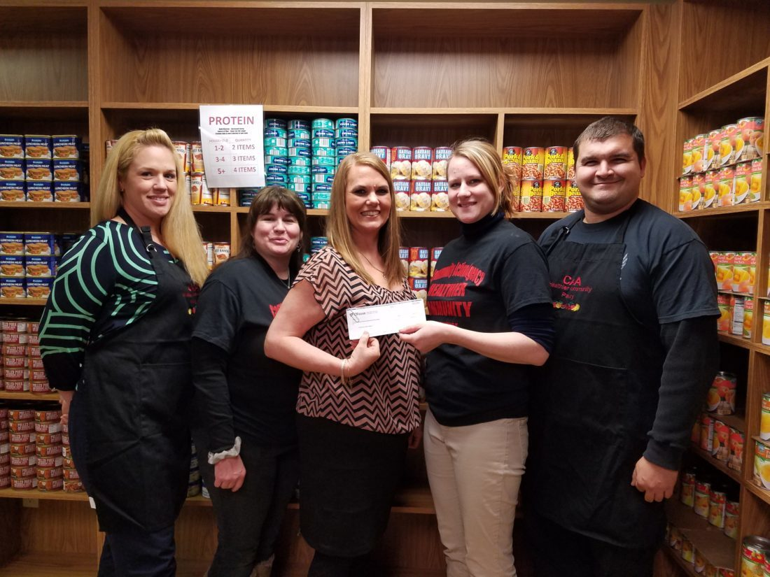Pictured are (from left) Marci McIntyre, Tina Kalbfell, La Dawn Whitman, Brittany Tyler and Josh Metts. Whitman is regional manager of CFBank in Columbiana County. (Submitted photo)