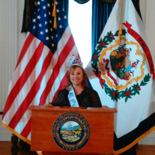 Mrs. Appalachian Festival Queen, MyLinda Kimball, a Hancock county resident travelled to Charleston, W.Va. March 20, 2017 to participate in the WV Adventure Day for Tourism at the Capital. (Submitted photo)