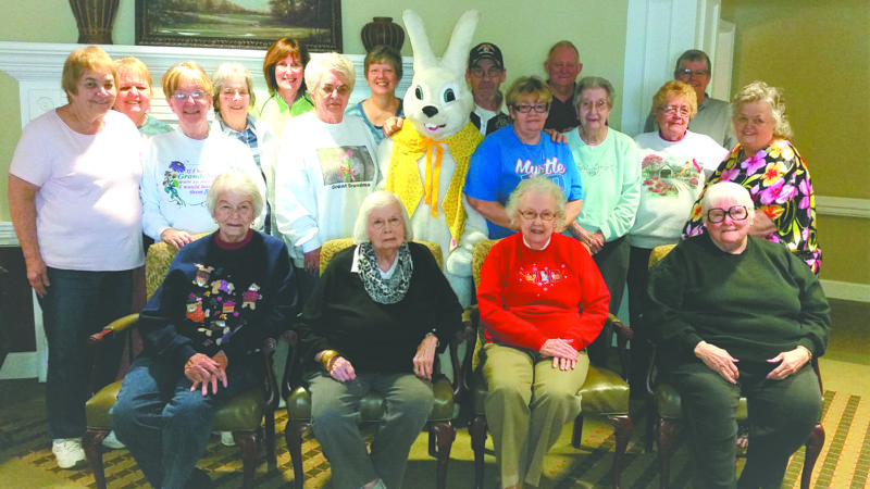 "The Chester Lions Club, friends, and residents of the Peachtree Inn at the Orchards of Foxcrest recently helped the Easter Bunny fill 3,000 eggs for the upcoming annual Chester Lions Club ""Breakfast with the Easter Bunny and Easter Egg Hunt"", scheduled 9 a.m. to noon April 15 at the Chester Municipal Building. Breakfast served until 11. Cost is $5 adults, $4 for 10-under and free under 2. Events include face painting, live chicks, bunnies, crafts, and photos with the Easter Bunny. Cost is $5 for photos. For more information on the Chester Lions Club, visit our website at http://www.e-clubhouse.org/sites/chesterwv/index.php, or follow us on Facebook. (Submitted photo)"