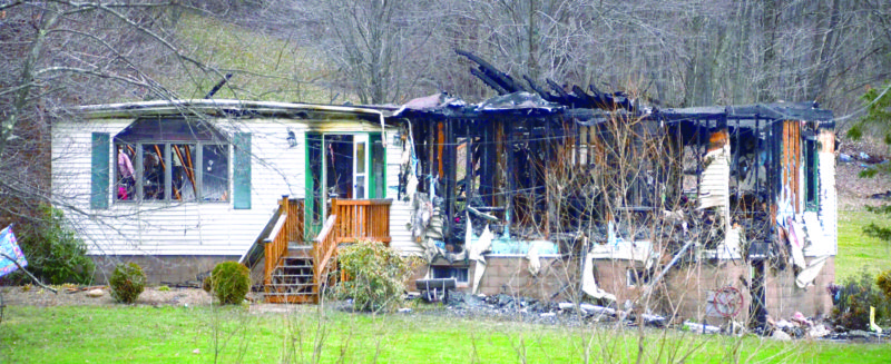This home on Glasgow Road in Madison Township was destroyed by fire early Saturday. (Photo by Patti Schaeffer)
