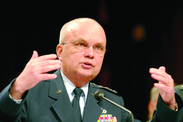 Retired Air Force Gen. Michael Hayden, a former head of the National Security and Central Intelligence agencies, will appear April 27 at Steubenville Catholic Central High School as part of the Trinity Health System presents the Herald-Star Speaker Series. (AP Photo)
