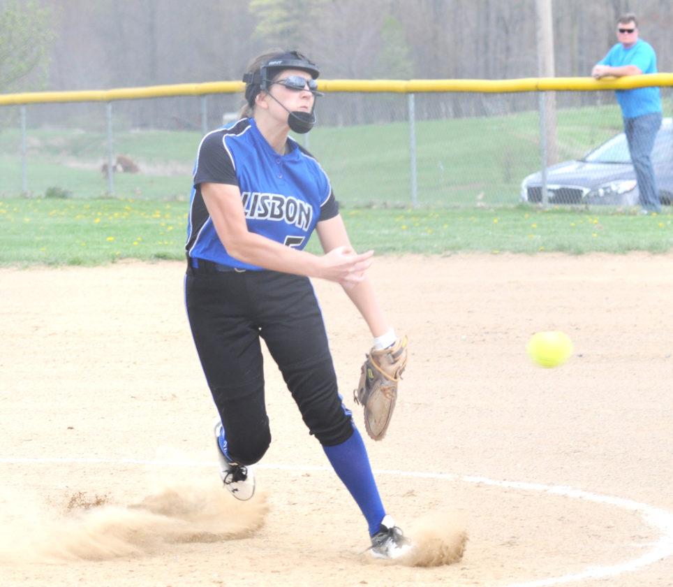 Lisbon's Sam Tinsley pitches against Columbiana on Wednesday. (Photo by Chris Rambo)