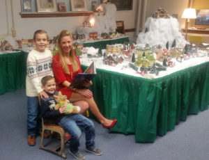 Logan (standing), Landon and mom Lindsay Bricker visited the Salem Storybook Museum on Thursday. (Submitted photo)