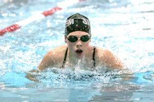 Salem's Marley Ziegler competes in the individual relay event on Friday. (Photo by Jimmy Joe Savage)