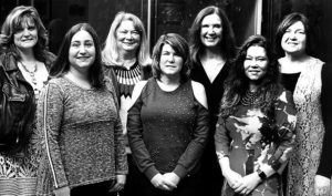The Mahoning County Medical Society Alliance is hosting its 13th annual champagne brunch and fashion show on March 3 at Mr. Anthony's Banquet Center, 7440 South Ave., Boardman. Arrangements are being handled by committee members, first row, from left, Katie Altenhof, Cassi Calderon, Diana McDonald, co-chairman; second row, Elizabeth Roller, Carol Sankovic, Susan Yarab and Tammy Engle. Not pictured is Paula Jakubek, co-chairperson. (Submitted photo)