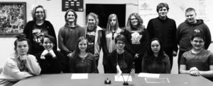 The Western Reserve Rangers 4-H Club 2017 officers include, from left, sitting, Abby Schors, vice president; Isabel Schors, secretary; Olivia Reph, vice president; William Reph, president; Olivia Haid, secretary; Collin Meehan, treasurer; standing, Natalia Kresic, health and safety advisor; Richie Hedrick, treasurer; Autumn Reed, health and safety leader; and Emma Reph, Camille Kirk, Thomas Collier and Brandon Quear, recreation leaders. (Submitted photo)