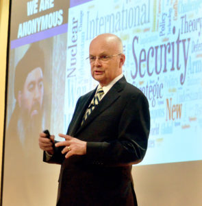 Retired Air Force Gen. Michael Hayden, former director of the National Security and Central Intelligence agencies, spoke Thursday evening at Catholic Central High School during the Trinity Health System Presents the Herald-Star Speaker Series. (Special to the Salem News)