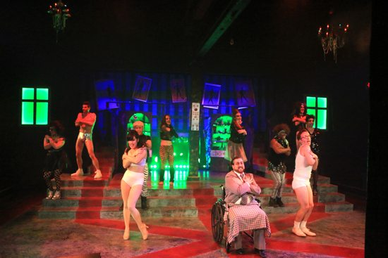 "PHOTO PROVIDED The cast of ""The Rocky Horror Show"" performs the number ""Eddie's Teddie"" during last weekend's performance of the cult classic musical at Millbrook Playhouse, 258 Country Club Lane, Mill Hall. The musical has performances through the weekend at the Playhouse; additionally, a performance by a community-based cast is set for the weekend of Oct. 28 at the Pajama Factory, 1307 Park Ave."
