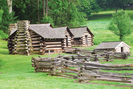 MARK  NANCE/Sun-Gazette Washington's Guard were housed in cabins a short distance from George Washington's headquarters during the encampment at Valley Forge. This special detachment was created to protect the Commander in Chief, his family, equipment, and papers.