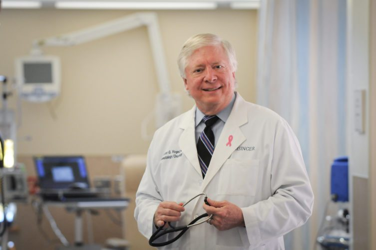 PHOTO PROVIDED Dr. Victor Vogel, medical oncologist director at Geisinger Cancer Institute, talks about the importance of mammography for early detection of breast cancer.
