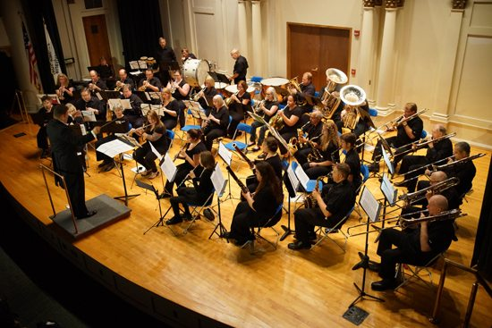 PHOTOPROVIDED The Northern Appalachian Wind Symphony, which recently wrapped up its inaugural season, performs at Pennsylvania College of Technology.