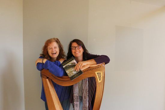"""PHOTO PROVIDED Cheryl Hein Walters (left) will play the harp and Lilace Mellin Guignard will read her original poems from her chapbook """"Young at the Time of Letting Go,"""" at a poetry and harp event at 7:30 p.m. Friday at the Gmeiner Art and Cultural Center, 134 Main St., Wellsboro."""