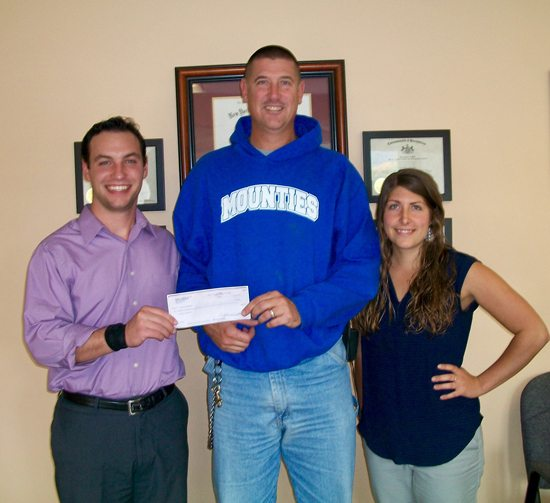 PHOTO PROVIDED From left to right are Dr. Steve Tambascio, Dean Kriebel and Dr. Shauna Deschenes.