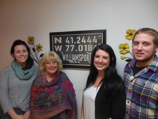 MIKEREUTHER/Sun-Gazette From left, Sierra Massaro, Sue Hutchins, Kellen Moore and Rob Bergman.