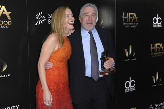 Leslie Mann, left, and Robert De Niro attend the press room at the 2016 Hollywood Film Awards held at the Beverly Hilton on Sunday, Nov. 6, 2016, in Beverly Hills, Calif. (Photo by Richard Shotwell/Invision/AP)