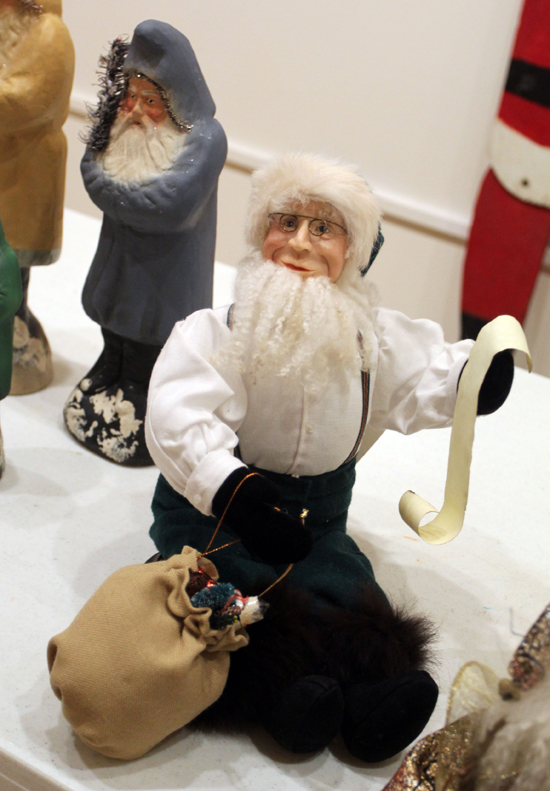 Santas on display on at the Taber Museum in Williamsport. KAREN VIBERT-KENNEDY/Sun-Gazette