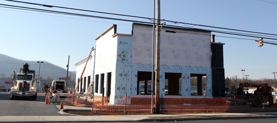 KAREN VIBERT-KENNEDY/Sun-Gazette The new dental office under construction on the Golden Strip in Loyalsock Township.