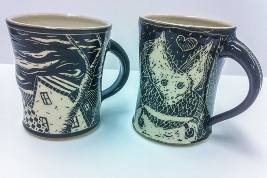 PHOTO PROVIDED Pictured are mugs that are part of the new exhibit at Penn College Gallery.