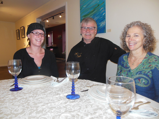 "MIKE REUTHER/Sun-Gazette From left, Danielle Hunter, Chef Richard ""Hosch"" Hoschar and Ann House operated Chef Hosch and Ann Catering, which recently expanded to include a venue for weddings and other events."
