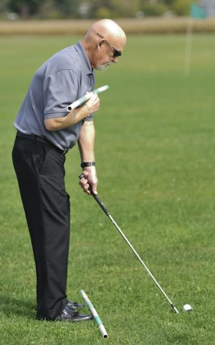 Senior golfers and golfers with knee and hip problems can benefit greatly by opening the stance.
