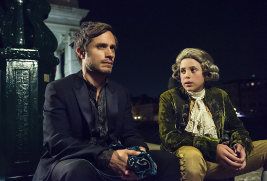 "PHOTO PROVIDED This image released by Amazon Prime Video shows Gael Garcia Bernal, left, in a scene from ""Mozart in the Jungle."" All 10 episodes of season three were available on Amazon on Friday."