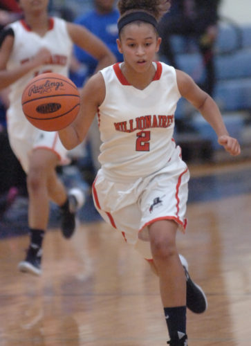 Sophomore Jada Whaley is expected to have a bigger role this winter with Williamsport.