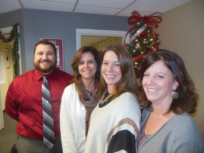 MIKE REUTHER/Sun-Gazette From left, Calvin Phillips, Wendy Hanley, Stacee Harer and Melissa Proseus.