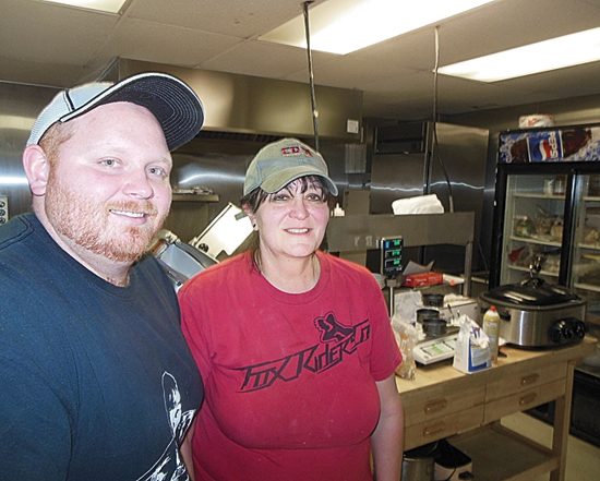 MIKE REUTHER/Sun-Gazette Chris Kutza and his mother, Crystal, operate a new restaurant, Kutza's Kitchen, in Jersey Shore.