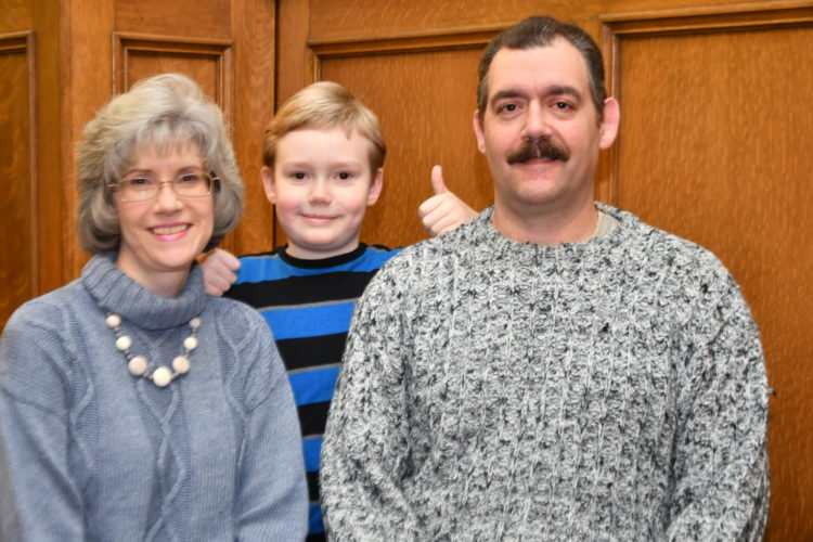 MARK NANCE/Sun-Gazette Michael and Faith Stainbrook, and their son Isaac, 9, of Williamsport, are looking forward to a trip to Washington, D.C., for the inauguration this week.